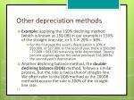other depreciation methods1