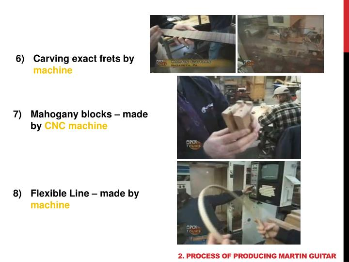 2. Process of producing martin guitar