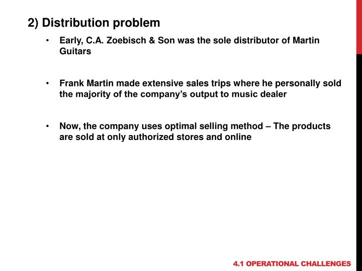 2) Distribution problem