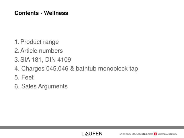 Contents - Wellness