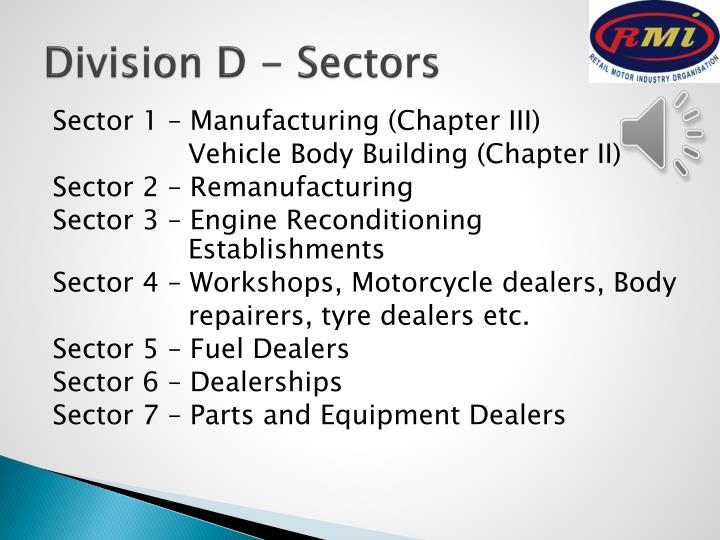 Division D - Sectors