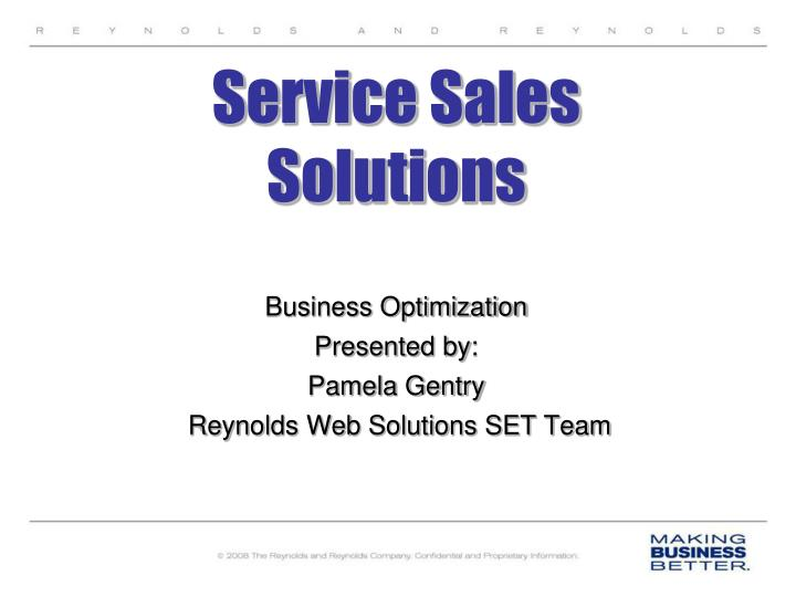 service sales solutions n.