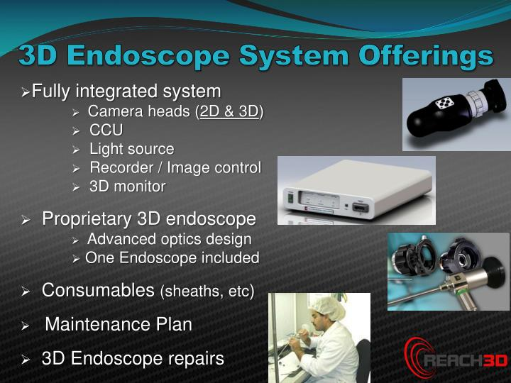 3D Endoscope System Offerings