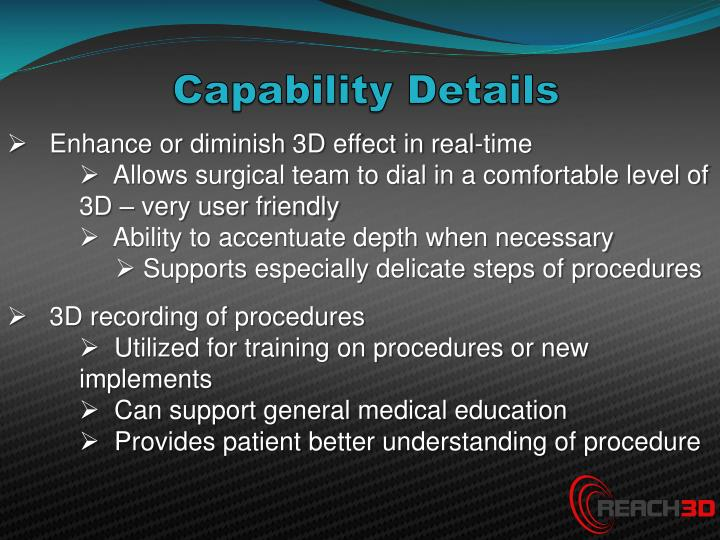 Capability Details
