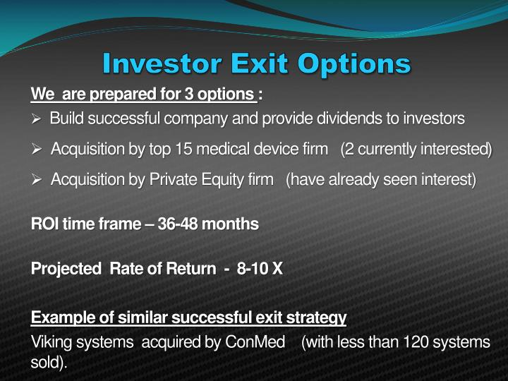 Investor Exit Options