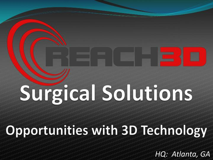 Opportunities with 3d technology