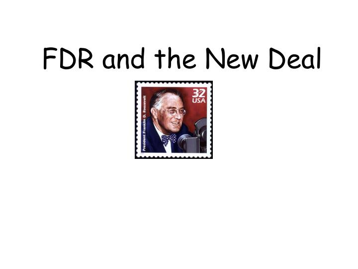 fdr and the new deal n.