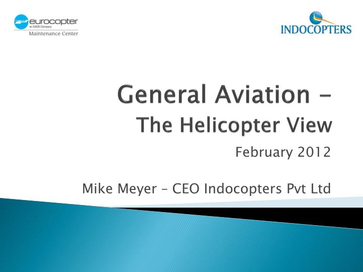 general aviation the helicopter view n.