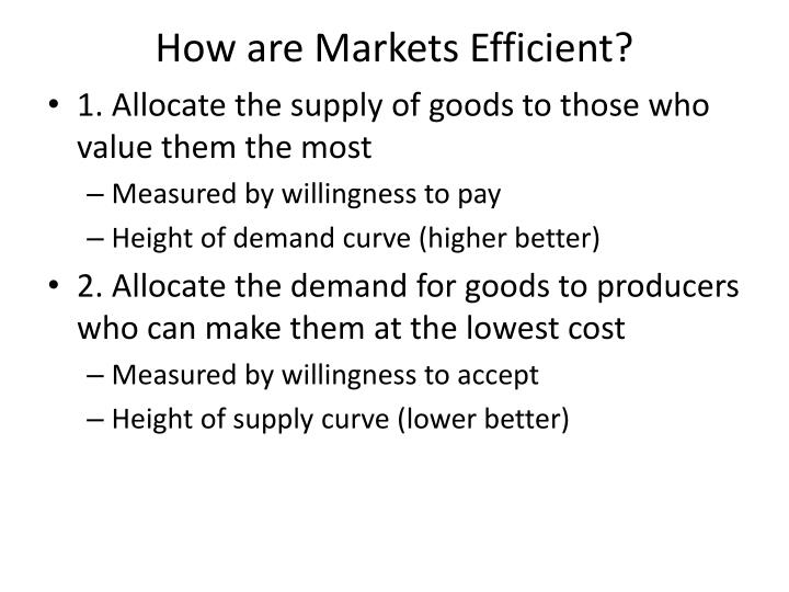 How are Markets Efficient?