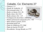 cobalto co elemento 27