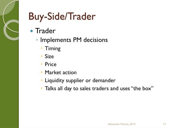 Buy-Side/Trader