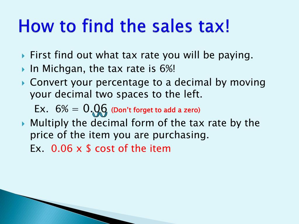 How To Figure Out Sales Tax >> Ppt Solving Problems Involving Discounts At Sales And Sales Tax