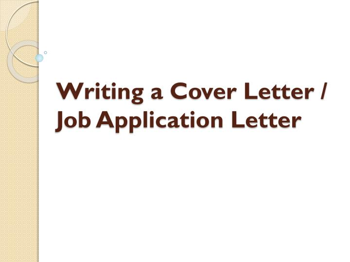 writing a cover letter job application letter n.
