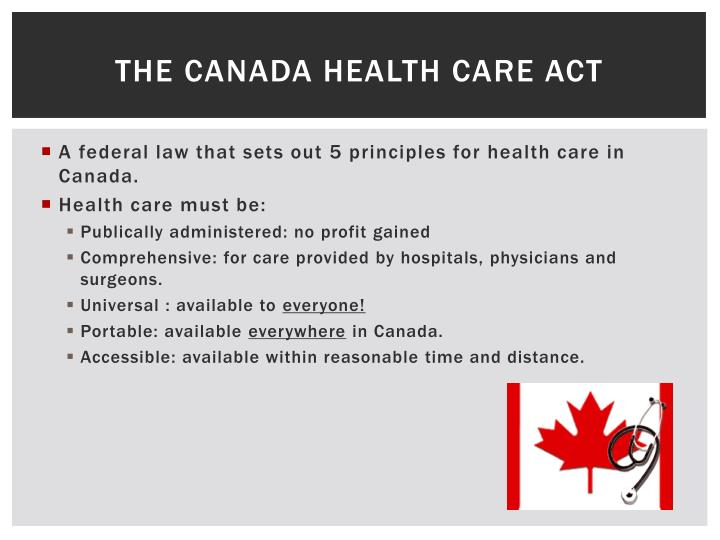 The Canada Health care act