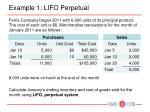 example 1 lifo perpetual
