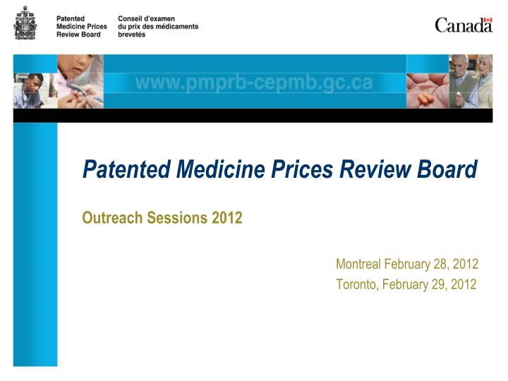 patented medicine prices review board n.
