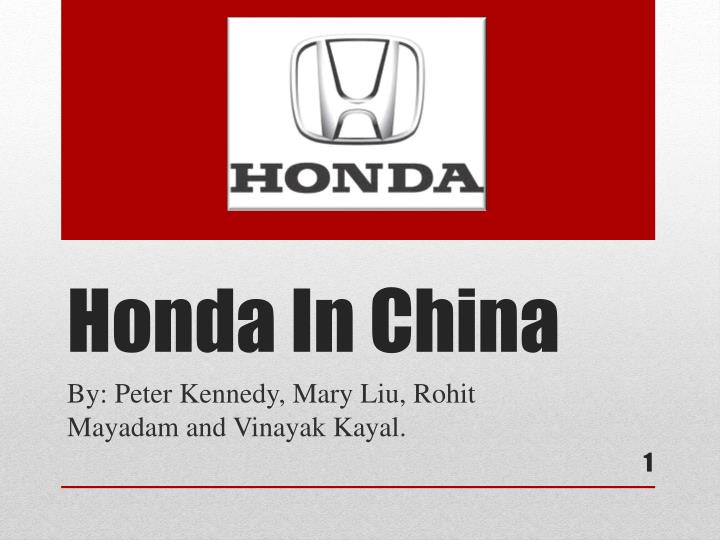 honda in china n.