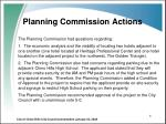 planning commission actions
