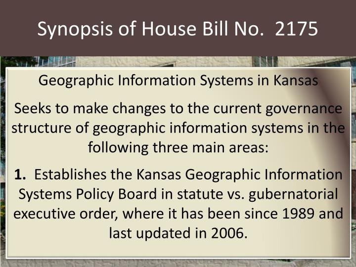 synopsis of house bill no 2175 n.