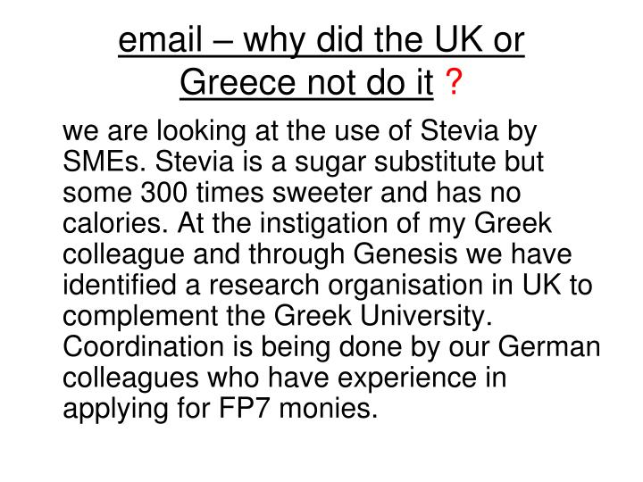 email – why did the UK or