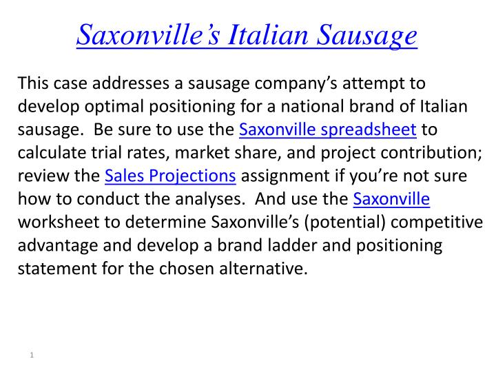 saxonville sausage company case summary Saxonville sausage case analysis please follow and like us:saxonville sausage case analysis custom essay.