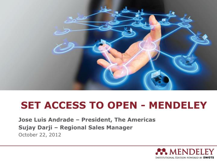 set access to open mendeley n.