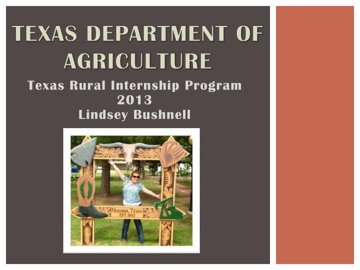 texas department of agriculture n.