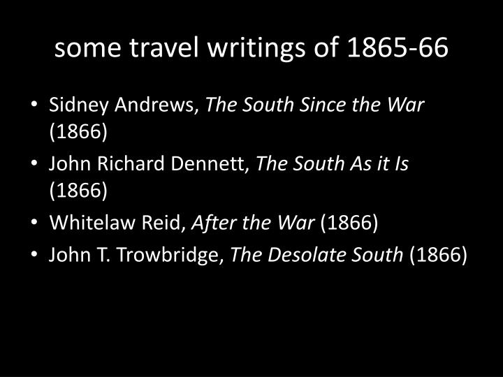 some travel writings of 1865-66