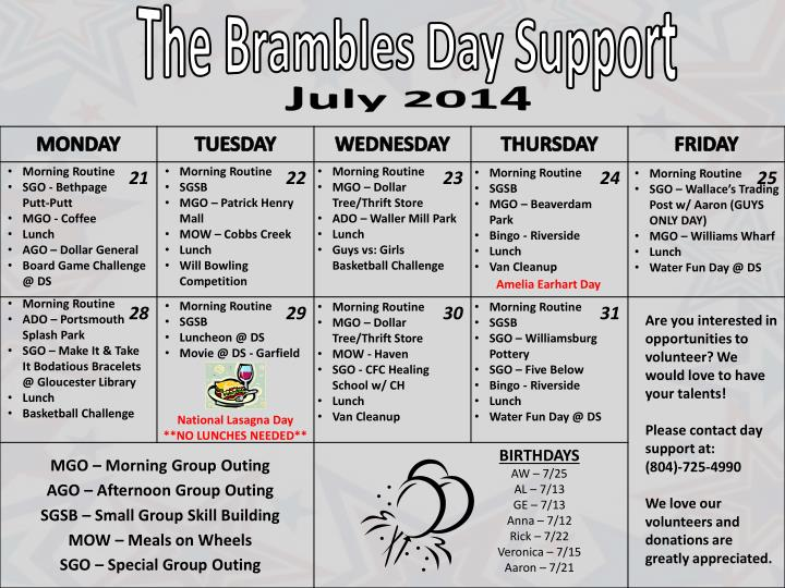 The Brambles Day Support