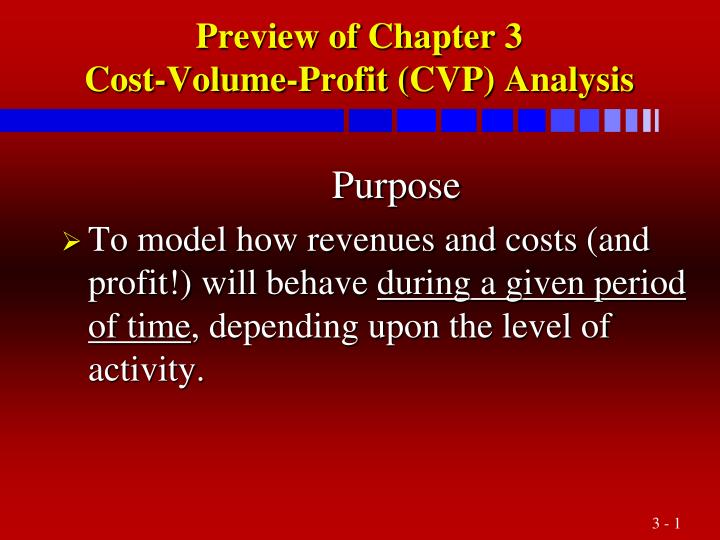 preview of chapter 3 cost volume profit cvp analysis n.