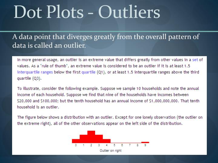 Dot Plots - Outliers