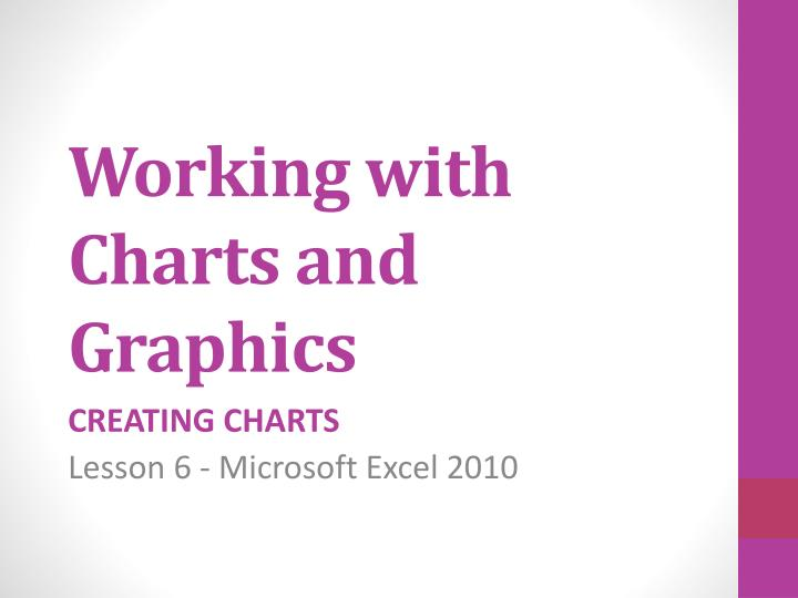 working with charts and graphics n.