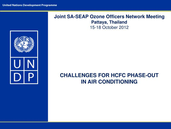 Joint SA-SEAP Ozone Officers Network Meeting