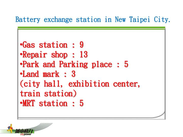 Battery exchange station in New Taipei City.