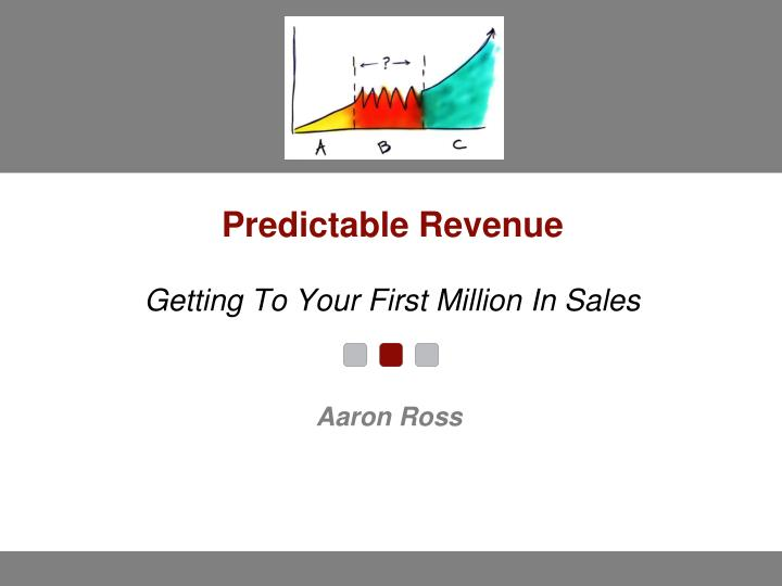 predictable revenue getting to your first million in sales n.