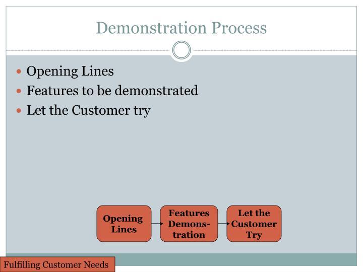 Demonstration Process