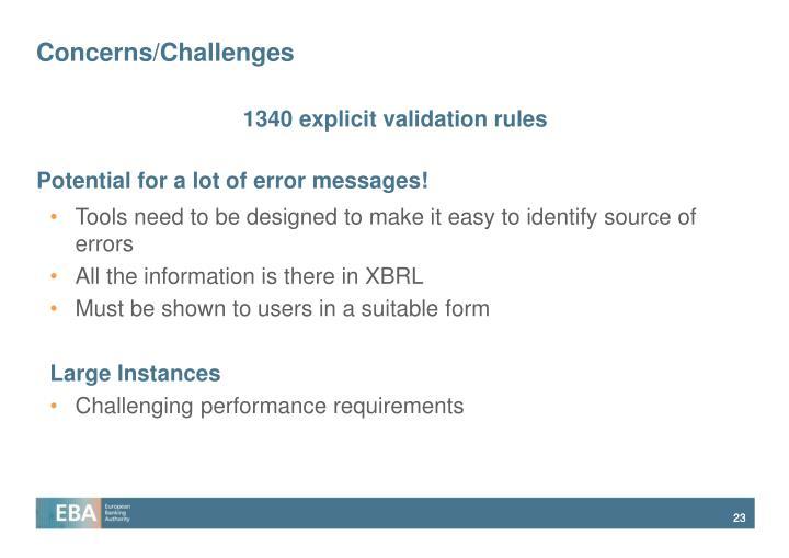 Concerns/Challenges