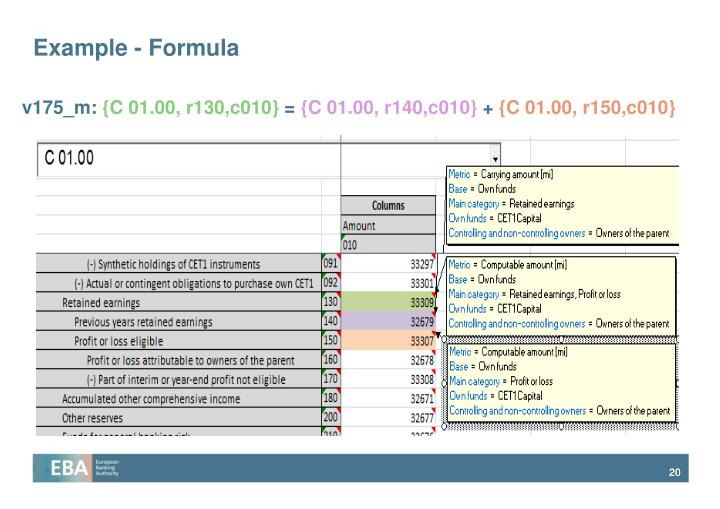 Example - Formula