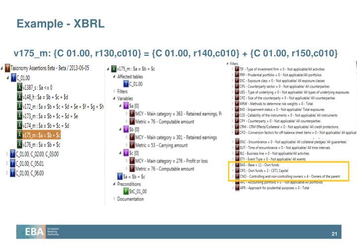 Example - XBRL