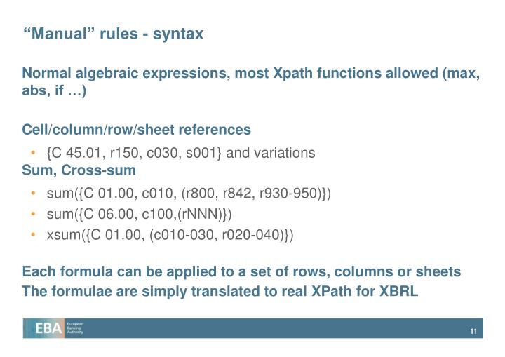 """""""Manual"""" rules - syntax"""