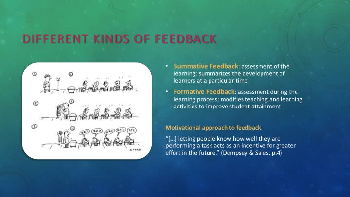 Different kinds of feedback