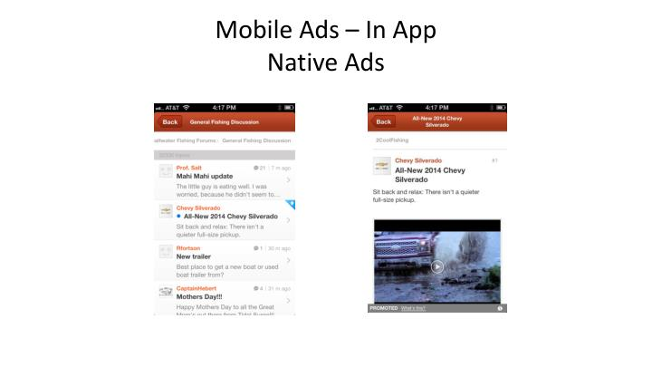 Mobile Ads – In App
