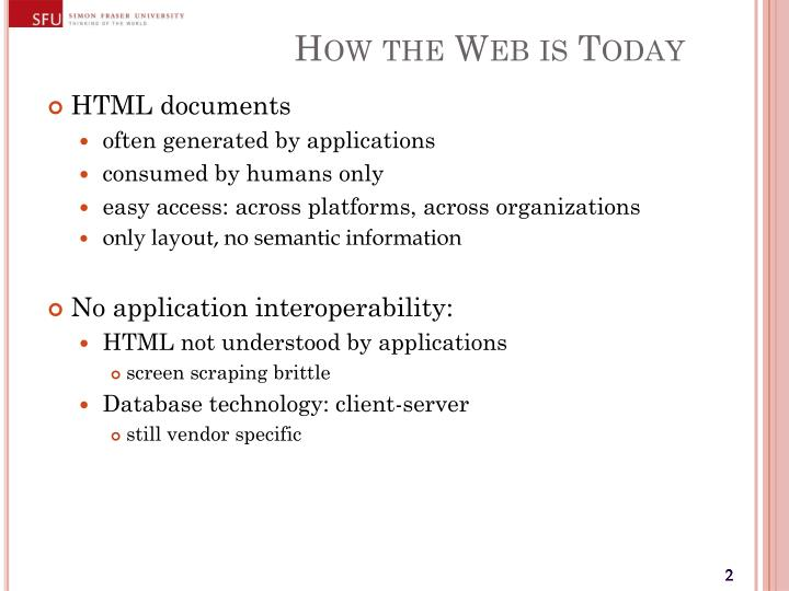How the web is today