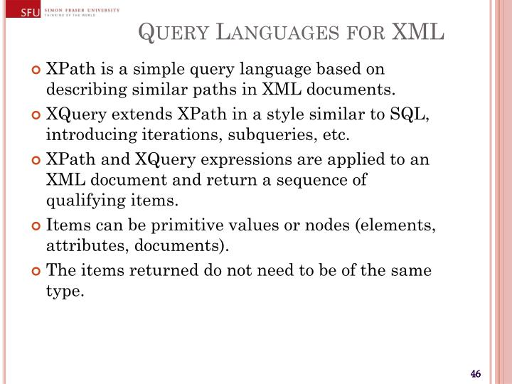 Query Languages for XML