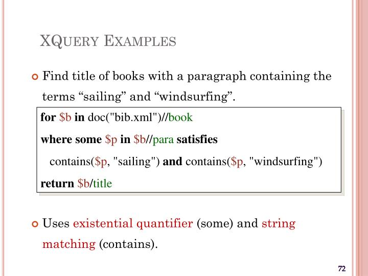 XQuery Examples