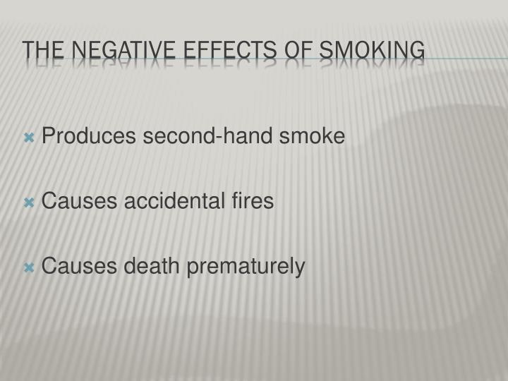the causes & effects of smoking essay Causes and effects of smoking essay sample by admin in essay samples on august 22, 2017 smoke is a pattern in which a substance most commonly baccy is burned and the fume is tasted or inhaled.