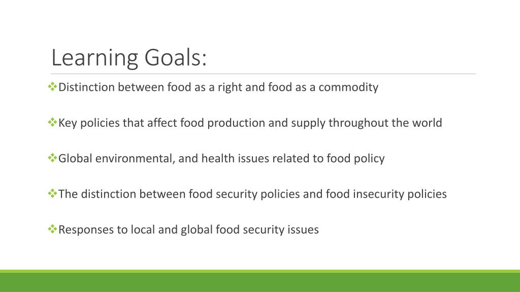 PPT - Politics of Food: Food Policy PowerPoint Presentation