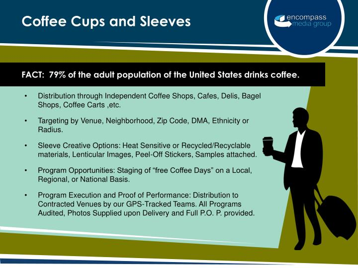 Coffee cups and sleeves