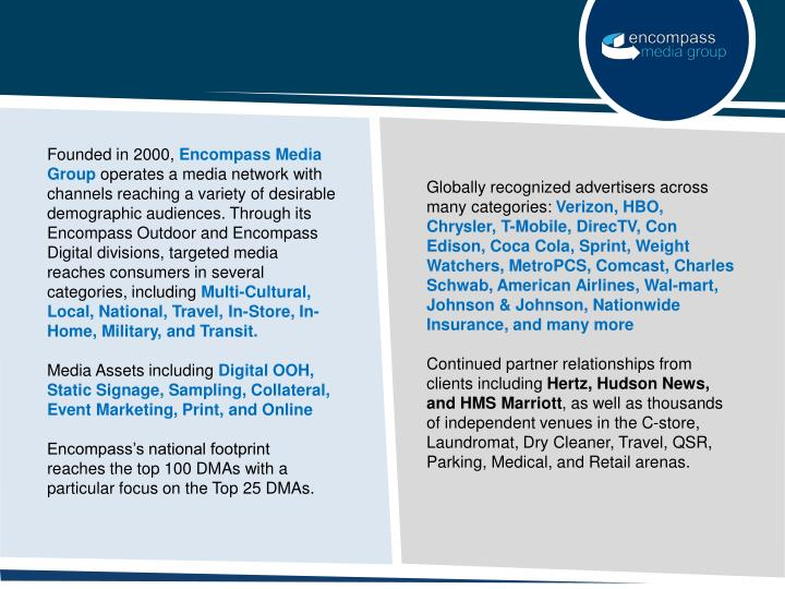 Globally recognized advertisers across