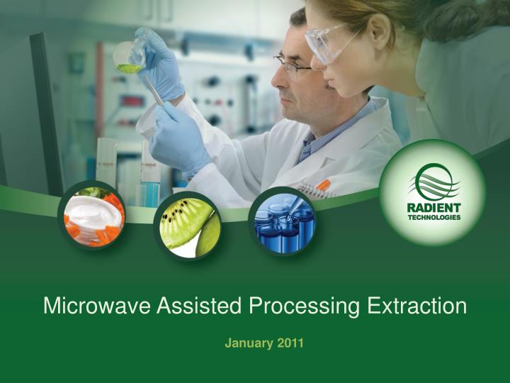 microwave assisted processing extraction n.